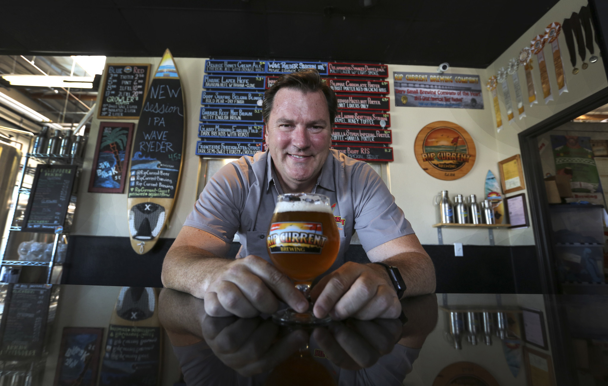 Meet your brewer paul sangster of rip current brewing for Craft beer guild san diego