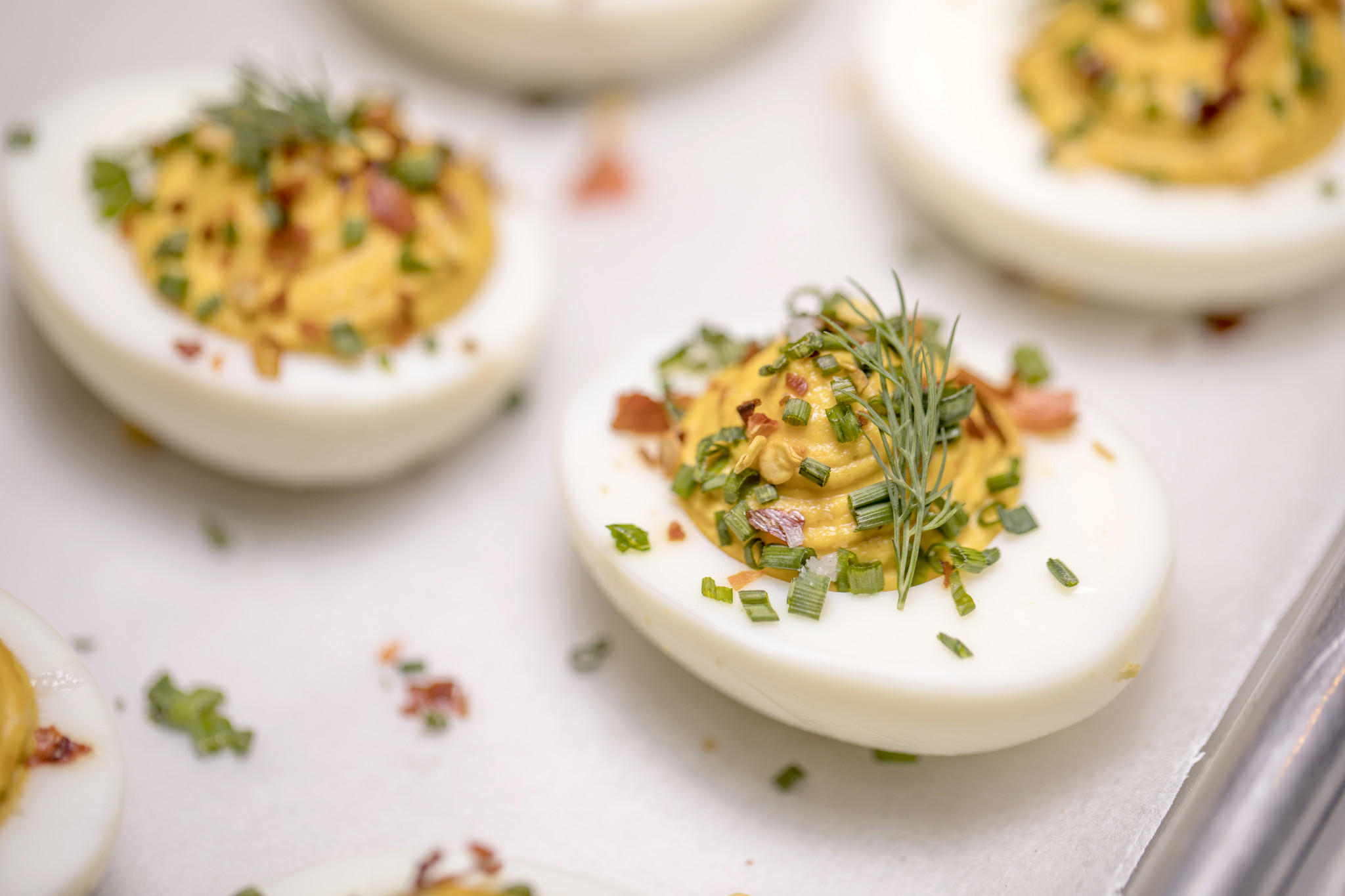 Recipe deviled eggs with chile flake and sea salt for Table 52 deviled eggs recipe