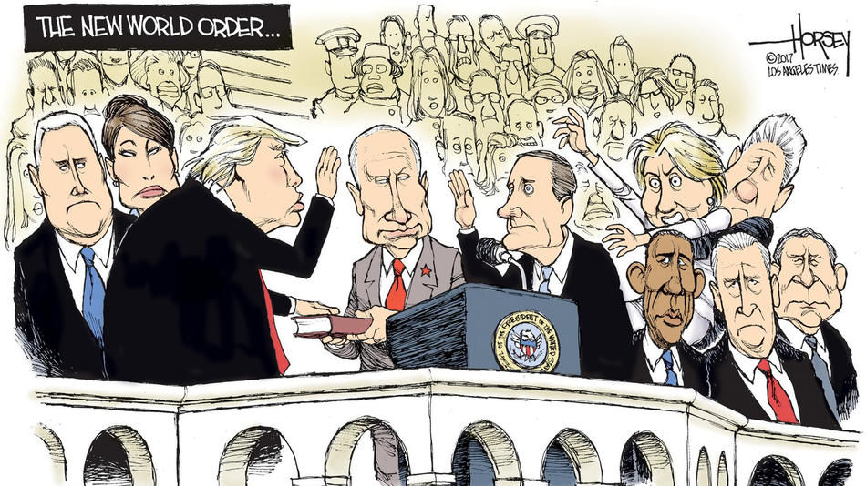 Editorial cartoon on Trump inauguration