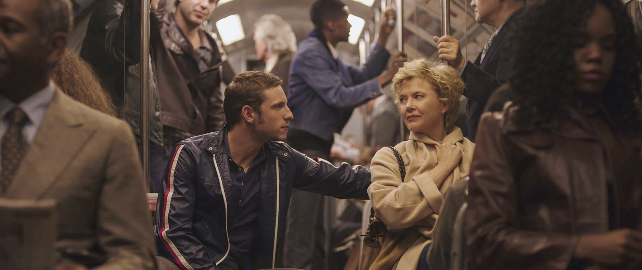 This image released by Sony Pictures Classics shows Annette Bening, right, and Jamie Bell in a scene