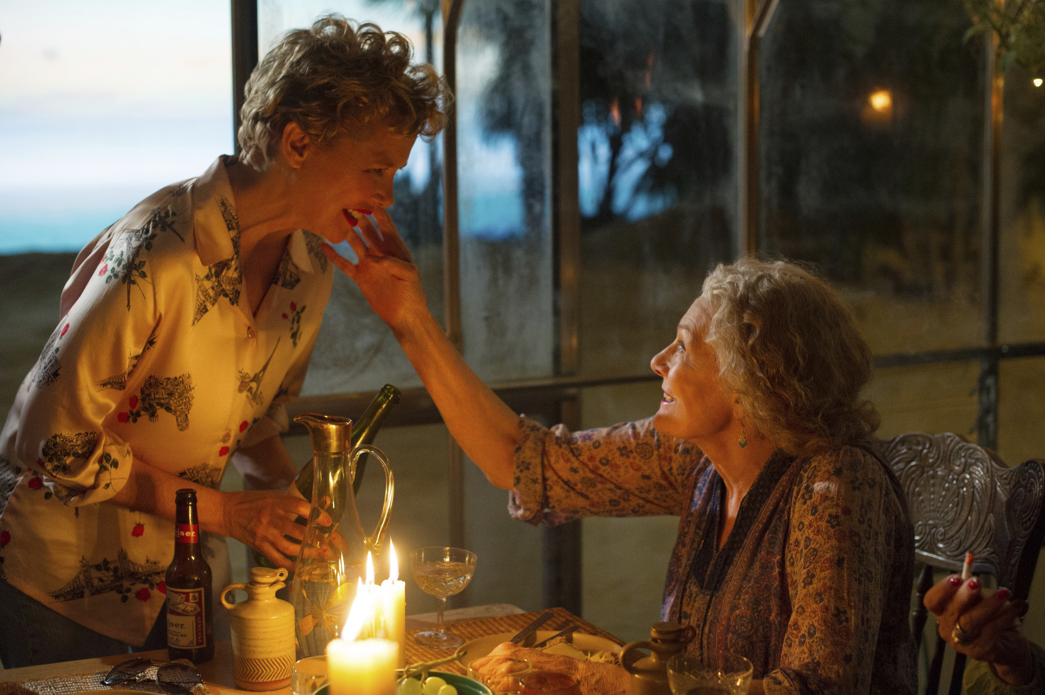 This image released by Sony Pictures Classics shows Annette Bening, left, and Vanessa Redgrave in a