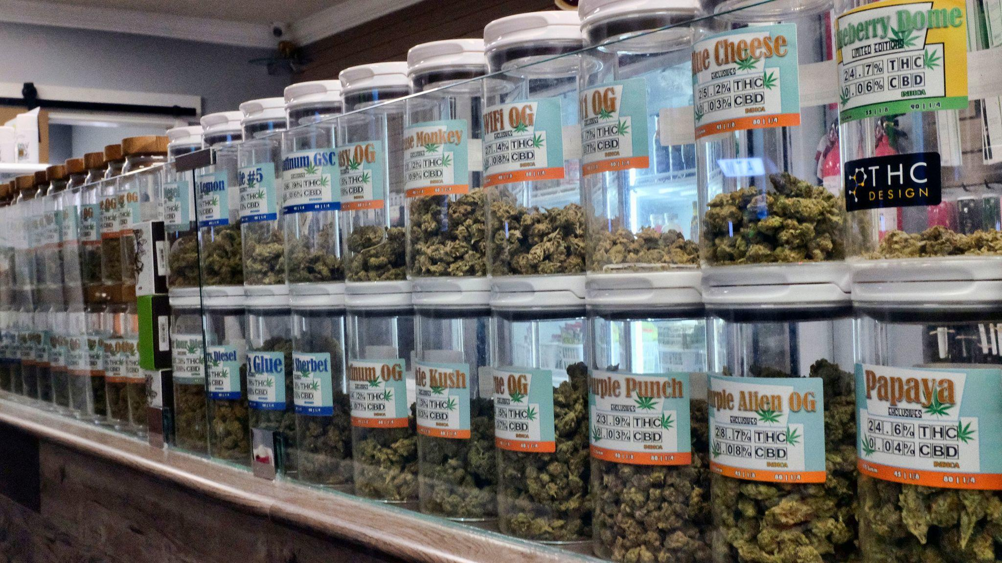 California kicked off recreational sales on New Year's Day, becoming the largest state in the nation with legal cannabis for adults. (Richard Vogel / Associated Press)