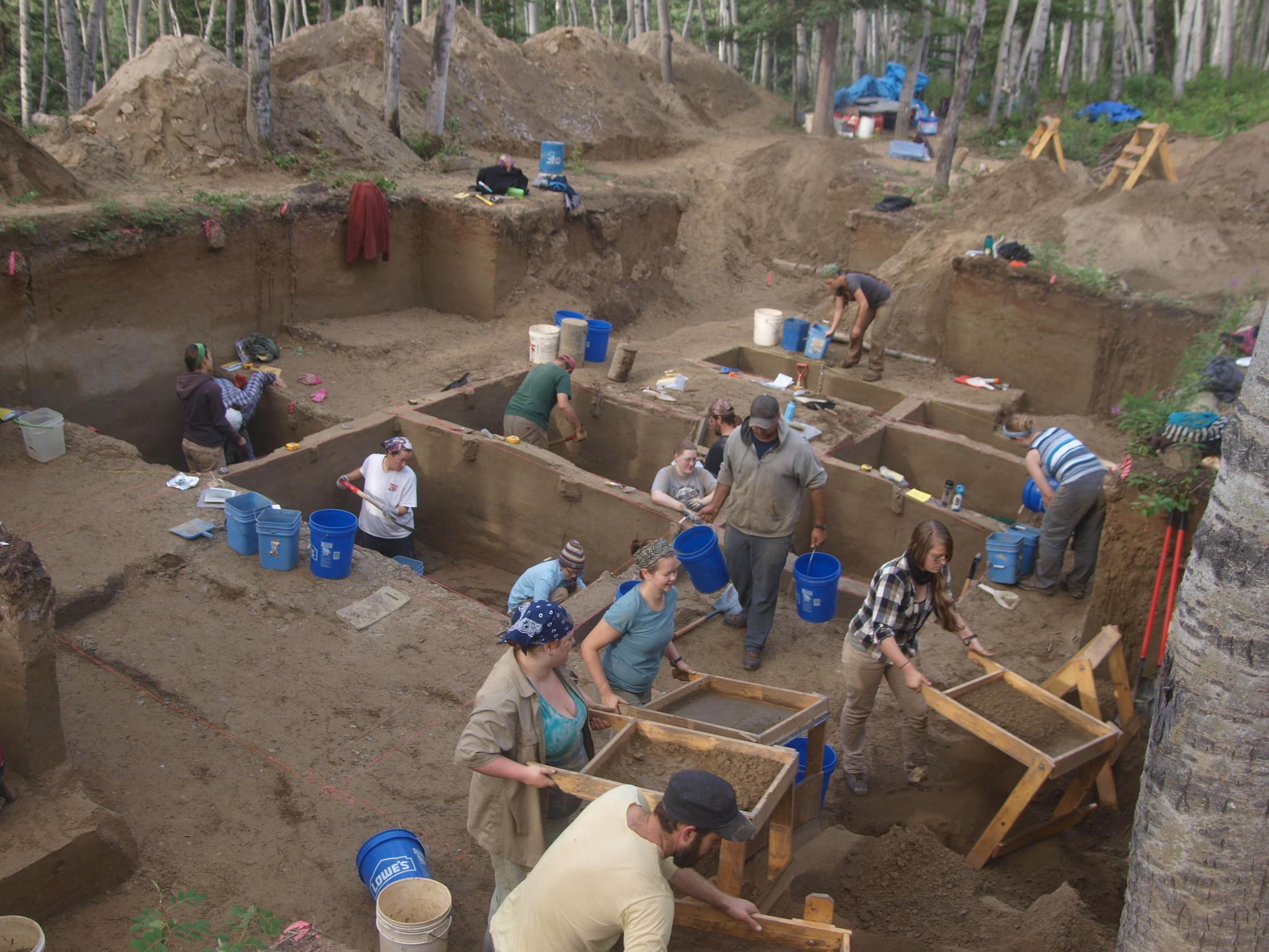 Alaskan excavation