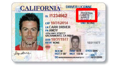 The front of the AB 60 license. (Courtesy: California Department of Motor Vehicles)
