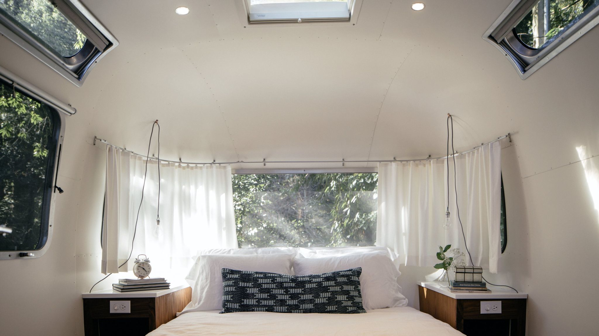 Van Life: Cozy interior at AutoCamp on the Russian River. Credit: Erin Feinblatt / AutoCamp