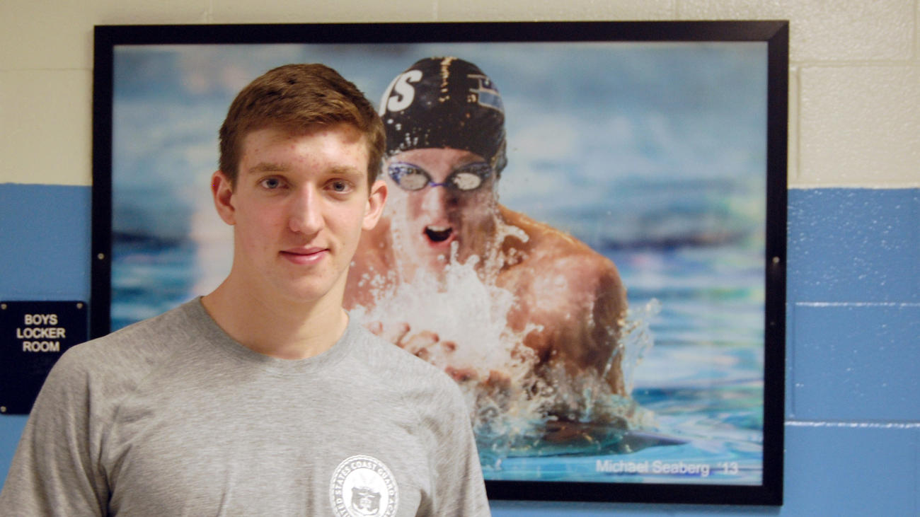 Devin McClure, 17, a senior at South River High School, is a top-ranked swimmer on the school's te