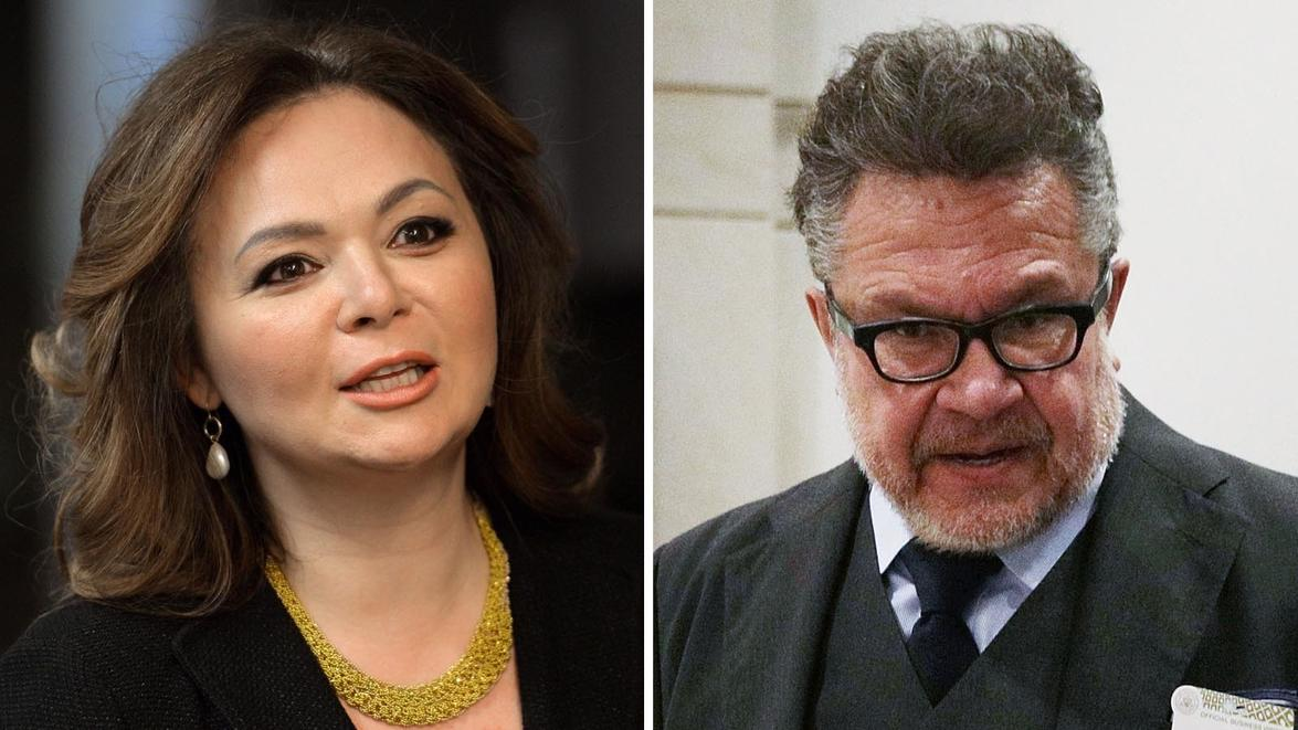 Russian lawyer Natalia Veselnitskaya and lobbyist Rinat Akhmetshin. — Photographs: Yury Martyanov/Agence France-Presse/Getty Images and Alex Wong/Getty Images.