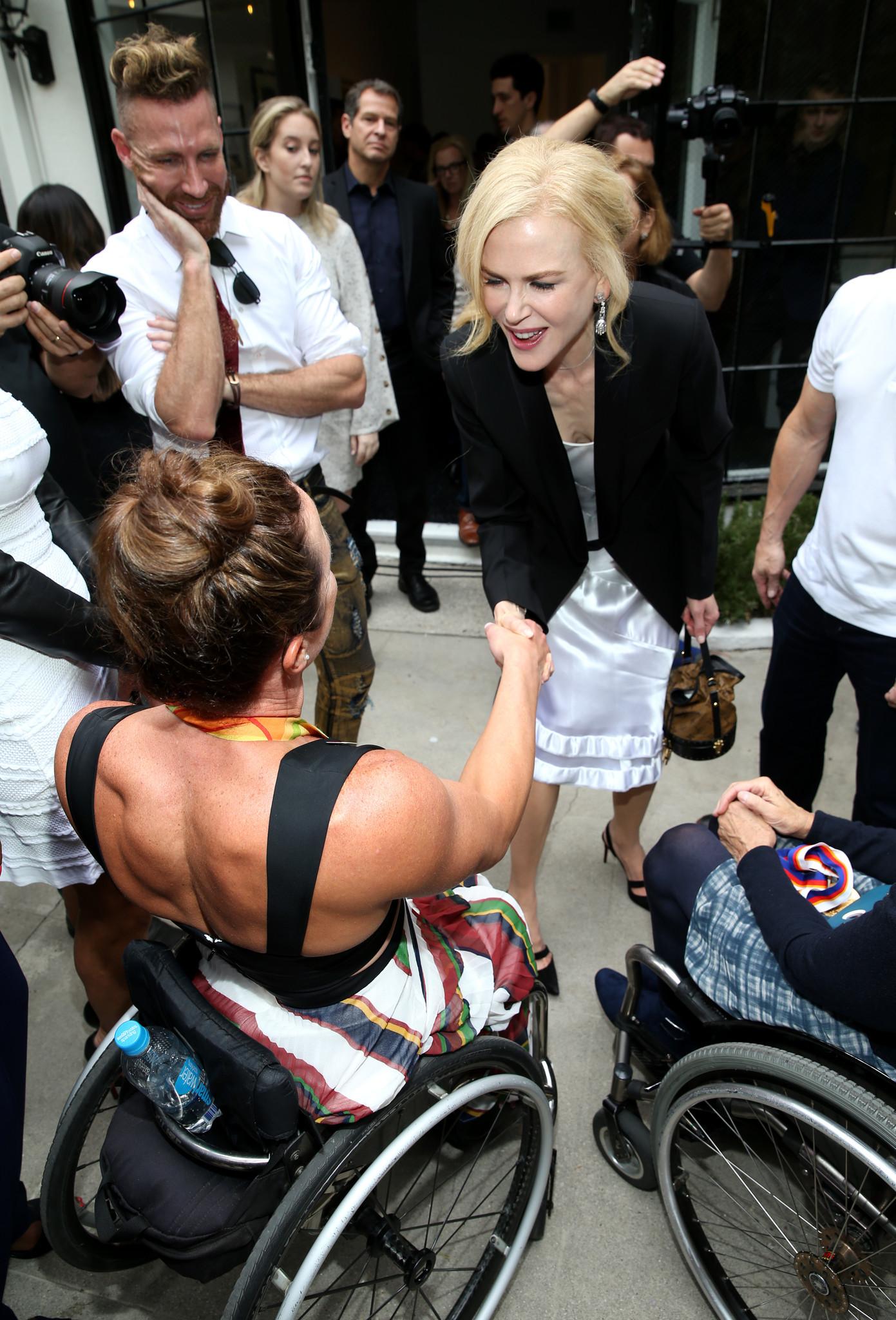 Tatyana McFadden and Nicole Kidman