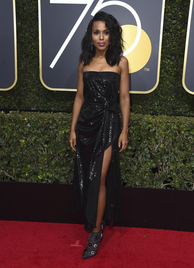 Kerry Washington at the Golden Globes in Beverly Hills. (Jordan Strauss / Invision / AP)