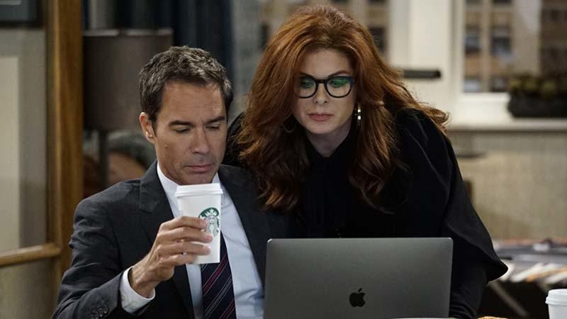 "Eric McCormack and Debra Messing in ""Will & Grace."" (Chris Haston / NBC)"
