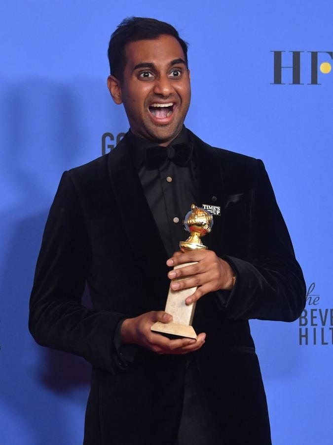 Image result for Aziz Ansari golden globes