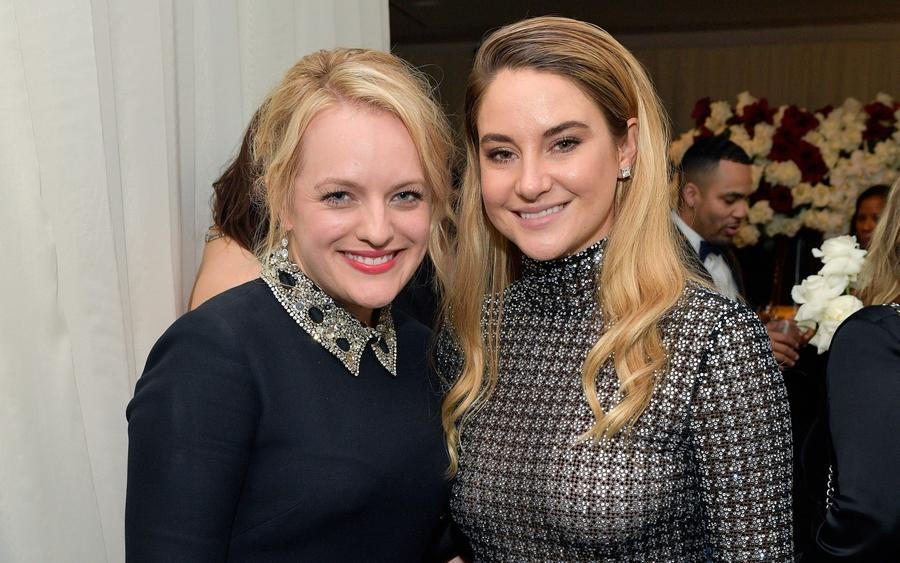 Elisabeth Moss and Shailene Woodley attend the Warner Bros. and InStyle Golden Globes party on Jan. 7. (Matt Winkelmeyer / Getty Images for InStyle)