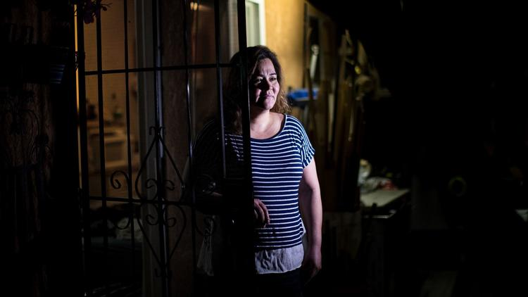 Salvadoran immigrant Cecilia Ramos lives in Los Angeles on protected status. (Gina Ferazzi / Los Angeles Times)
