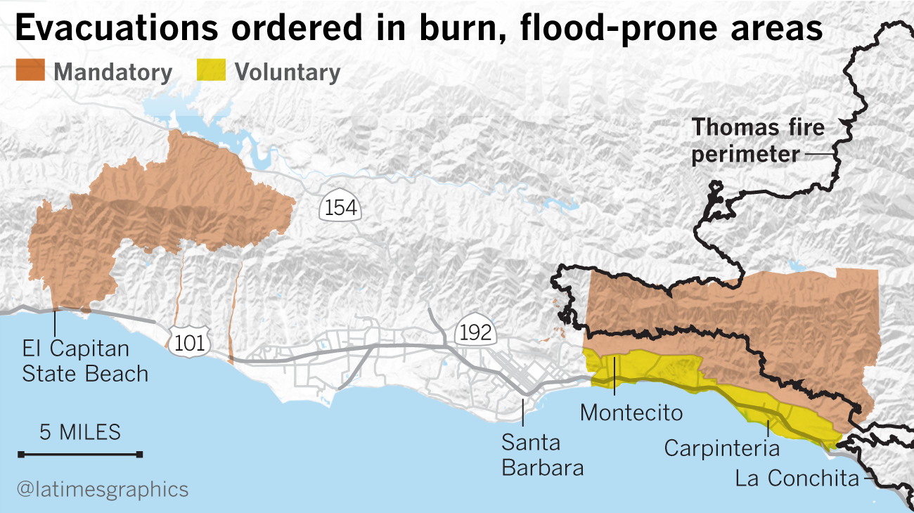 At least 17 dead as mudslides hit fire-ravaged Southern California