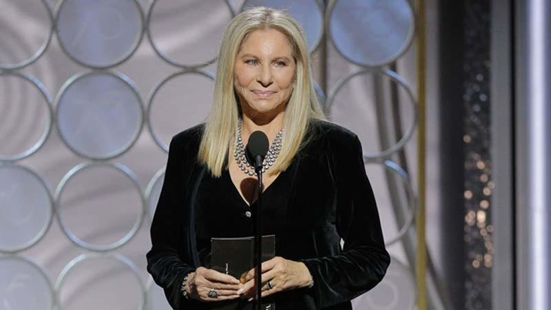 Barbra Streisand at Sunday's Golden Globes. (Paul Drinkwater / NBC)