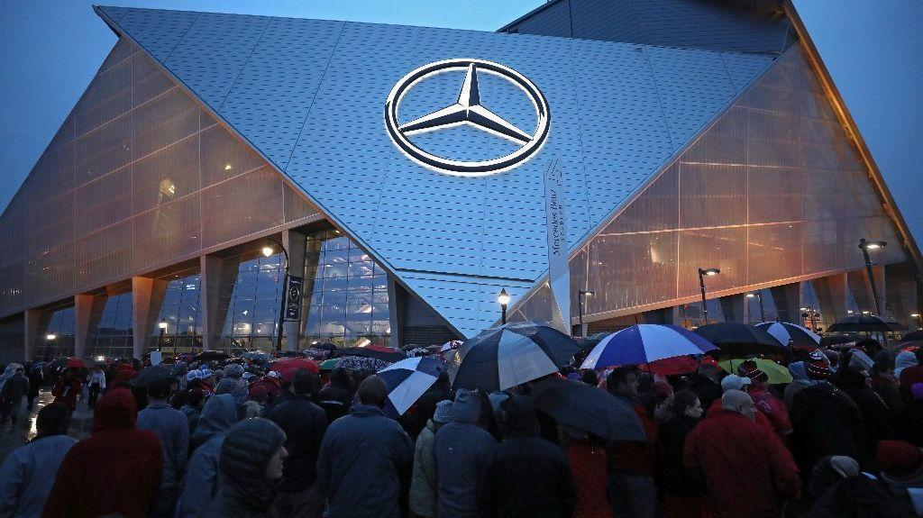 Scene outside national championship game in atlanta for Will call mercedes benz stadium