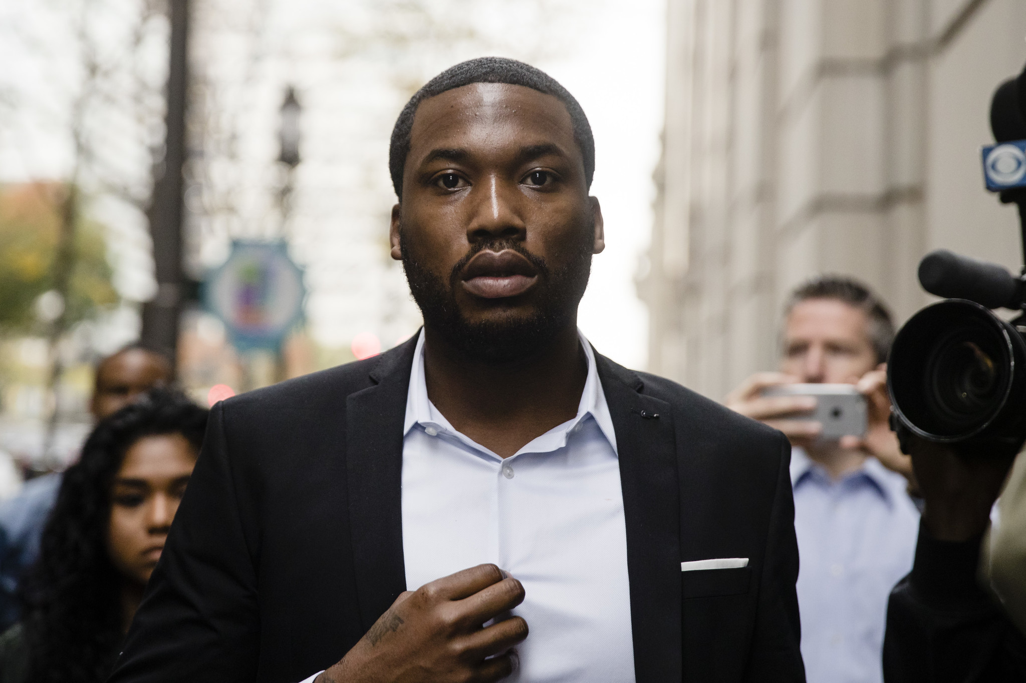 FILE - In this Nov. 6, 2017 file photo rapper Meek Mill arrives at the criminal justice center in Ph