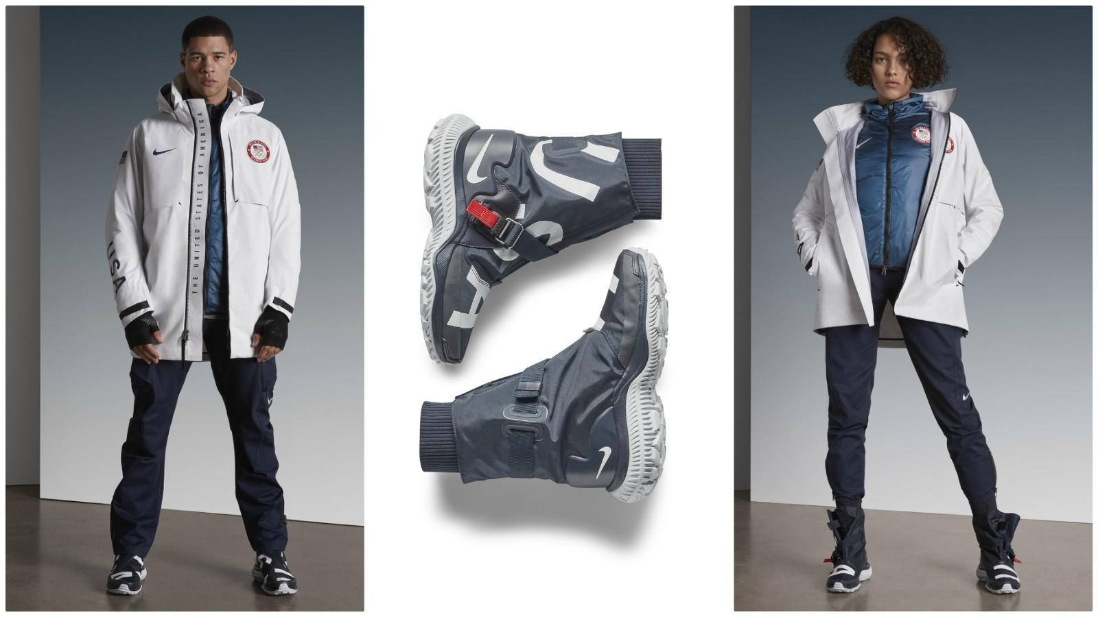 Bombers away! The classic jacket style is part of Nikeu0026#39;s medal-stand collection at the Winter ...