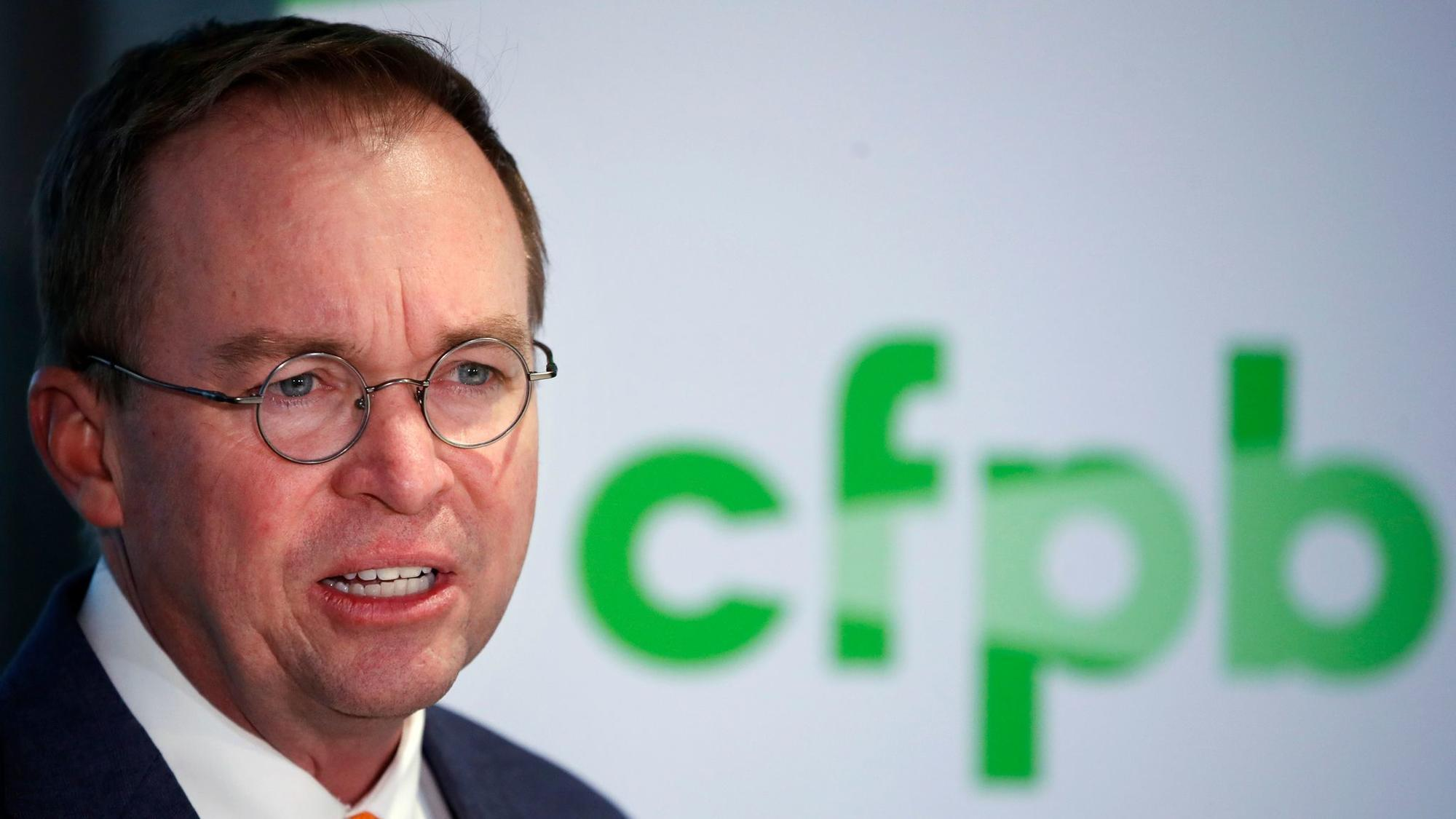 judge denies injunction to remove mick mulvaney as consumer bureau 39 s acting director la times. Black Bedroom Furniture Sets. Home Design Ideas