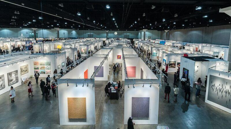 A look at the 2018 L.A. Art Show, which is at the L.A. Convention Center in downtown Los Angeles. The event runs through Sunday.