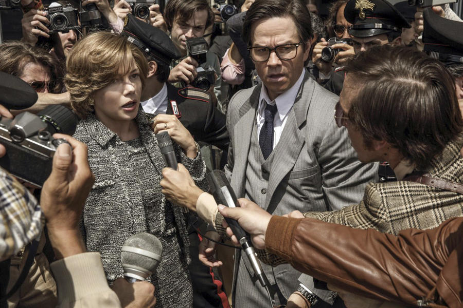"Michelle Williams, left, and Mark Wahlberg in ""All The Money in the World."" (Fabio Lovino / Sony-TriStar Pictures)"