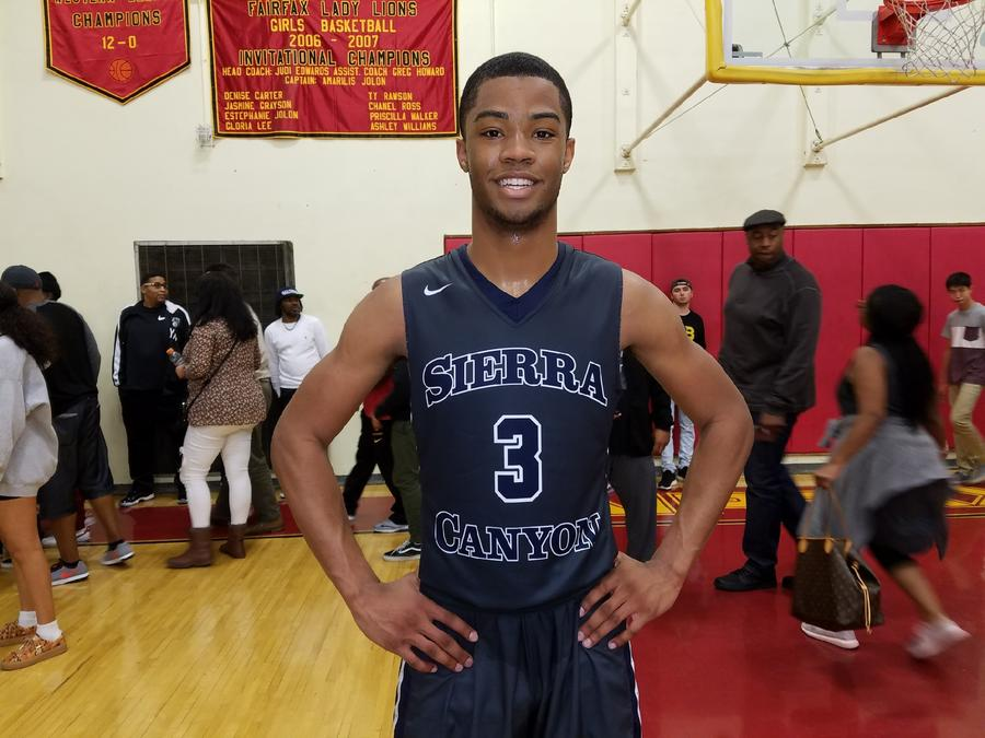 Cassius Stanley of Sierra Canyon scored 27 points against Fairfax. (Nick Koza)