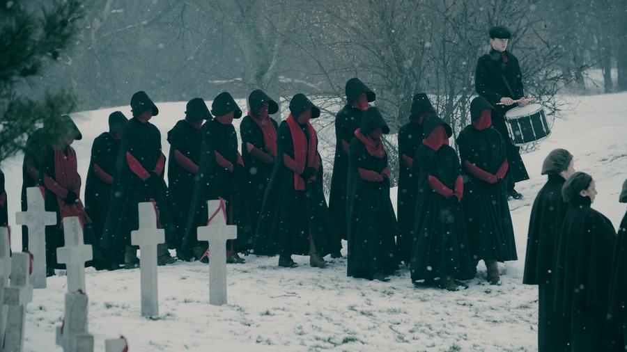 """A first look image from Season 2 of """"The Handmaid's Tale,"""" which moves beyond the story told in the Margaret Atwood novel. (Hulu)"""