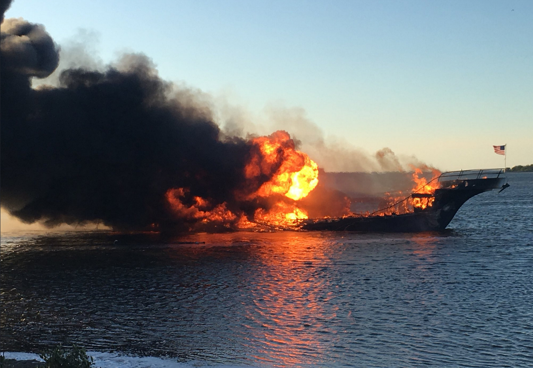 Florida casino shuttle boat engulfed by flames, all 50 passengers safely escape