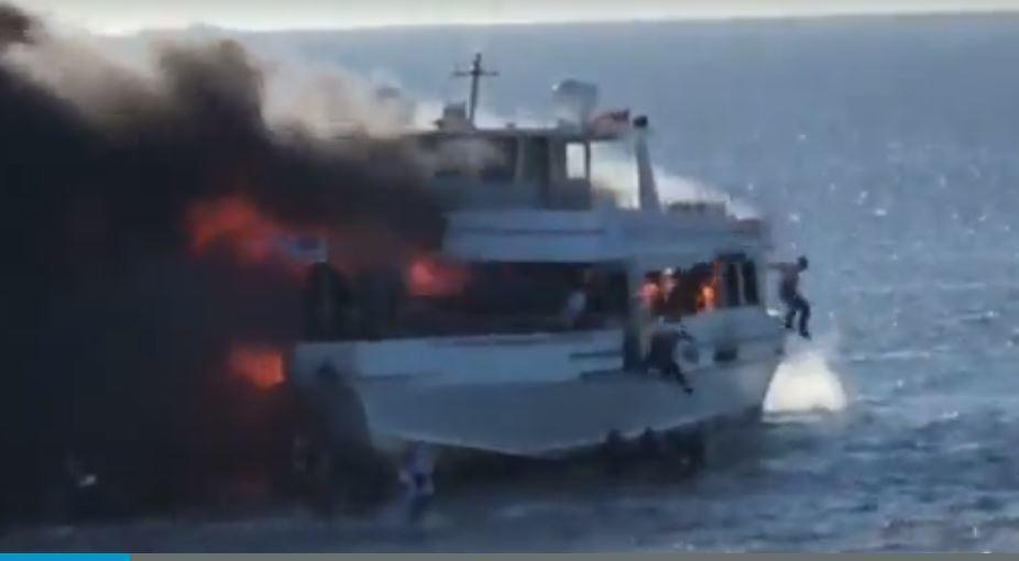 casino boat on fire in florida
