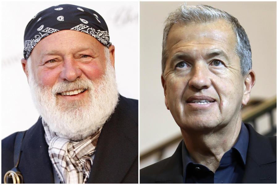 Photographers Bruce Weber, left, and Mario Testino. (Matt Sayles, Michael Sohn / Associated Press)