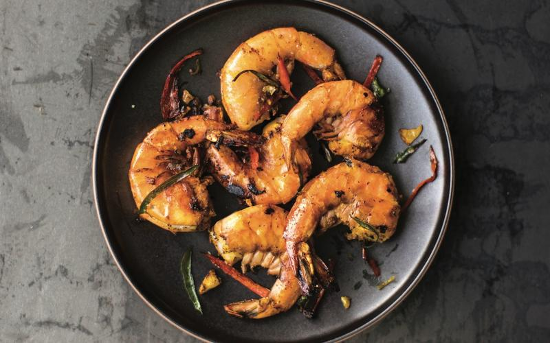 Recipe: Turmeric shrimp with curry leaves - California ...