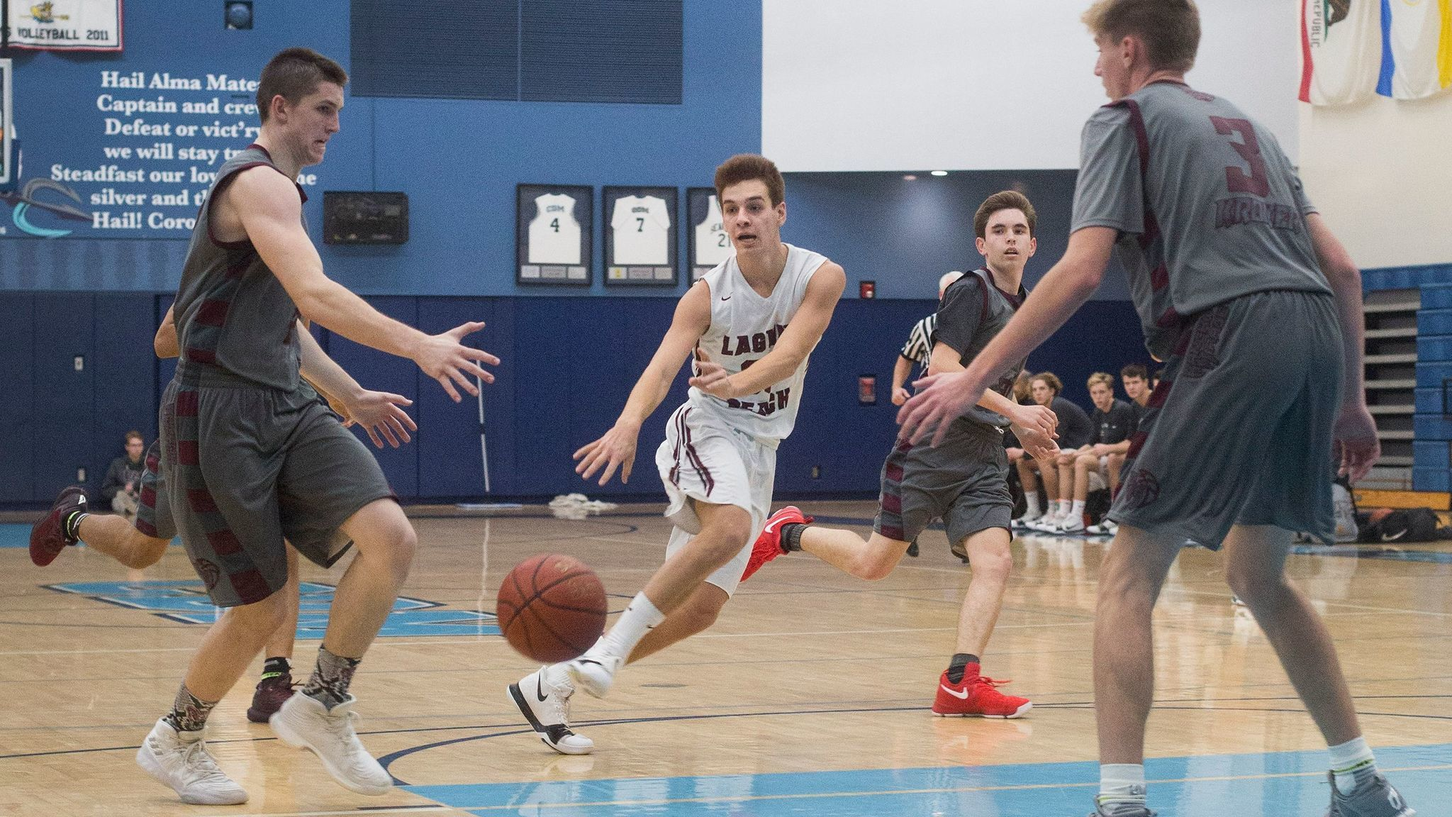 Laguna Beach boys' basketball player Charlie Rounaghi