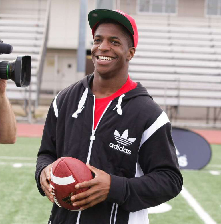 Titus Young smiles