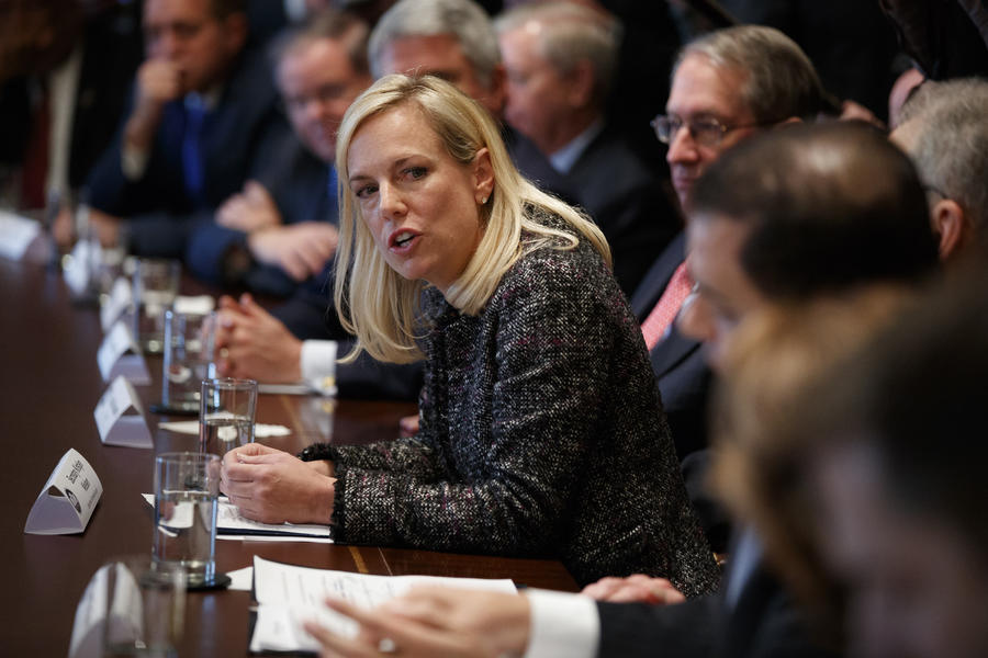 Secretary of Homeland Security Kirstjen Nielsen (Evan Vucci / Associated Press)