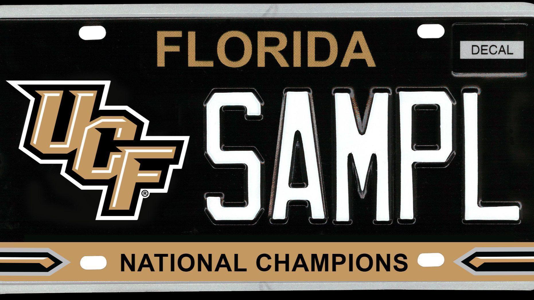 UCF championship specialty license plate bill filed in Legislature ...