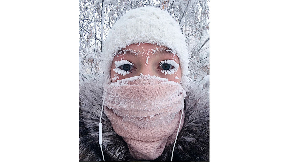 In the coldest village on Earth, eyelashes freeze, dinner is frozen ...