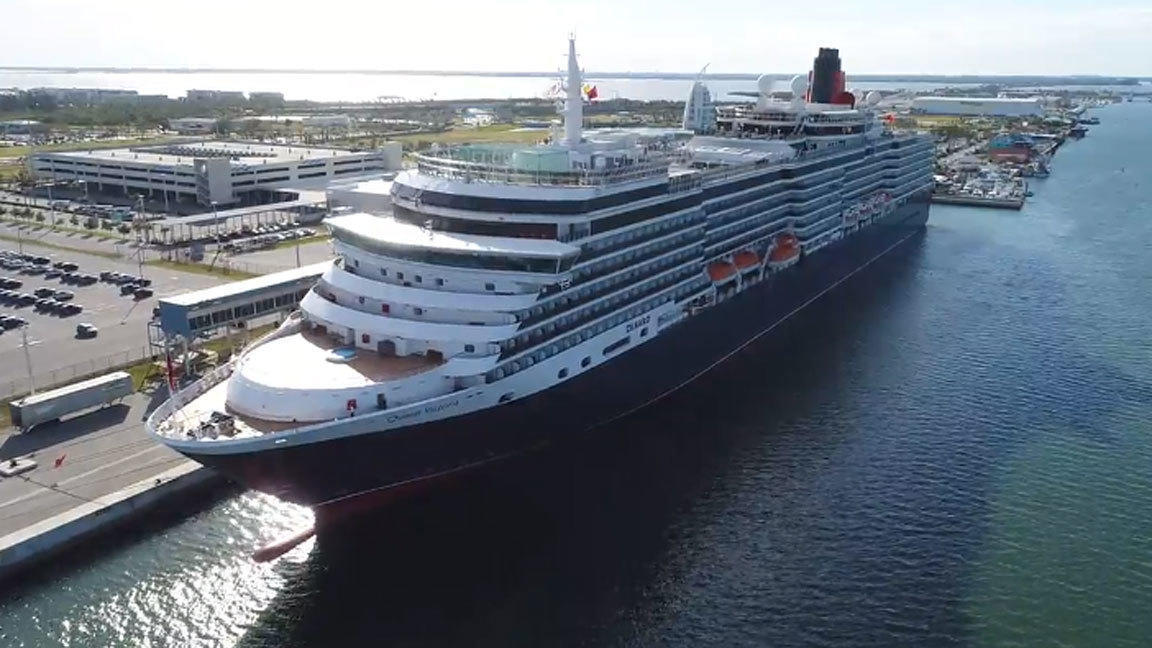 Cunard Lines Queen Victoria Makes Call On Port Canaveral - Cruise ships port canaveral