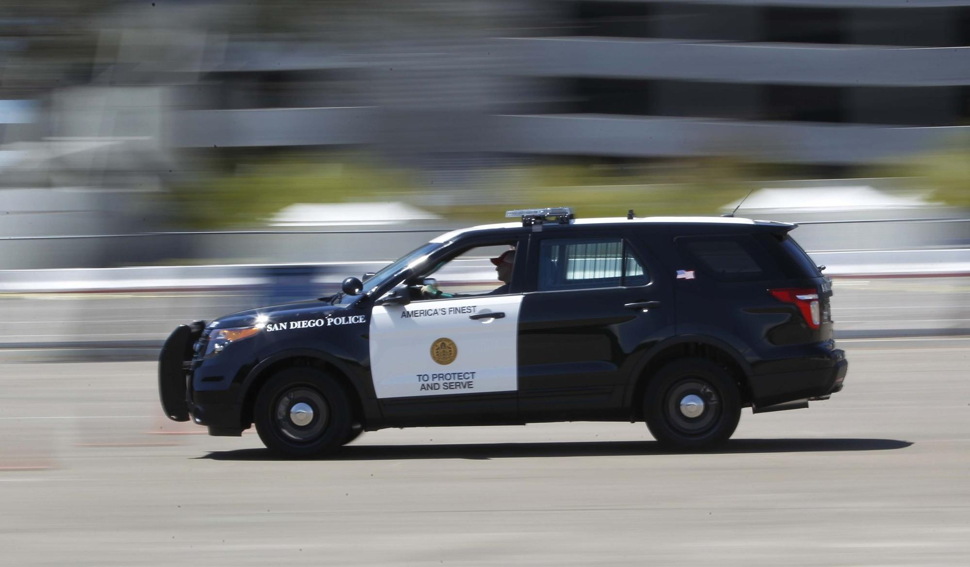 """The San Diego Police department has moved away from Crown Victoria sedans after ford ceased productions and are transitioning to a new crossover vehicle call the Ford """"Intercepto"""