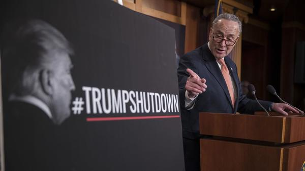 On first day of partial government shutdown, Democrats' strategy poses some risks