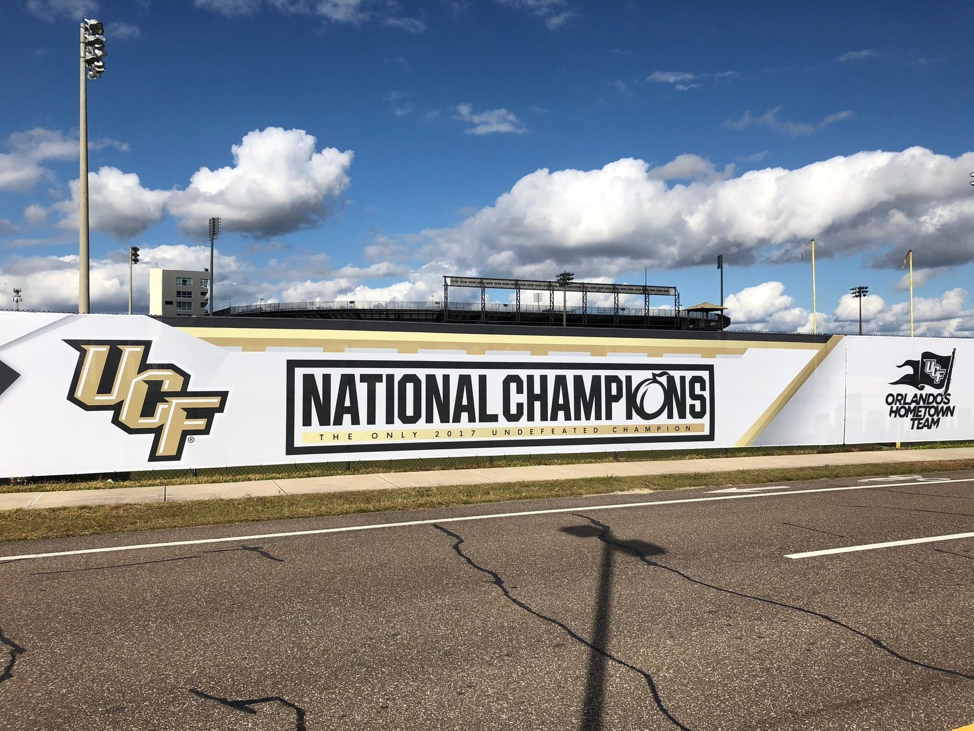 Ucf Adds National Champions Banner To Football Practice