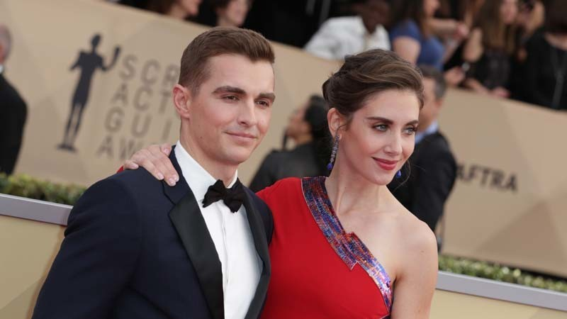 Dave Franco and Alison Brie at the 2018 SAG Awards.