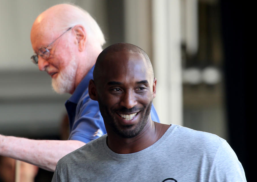 Kobe Bryant with John Williams in rehearsal last summer. (Luis Sinco / Los Angeles Times)