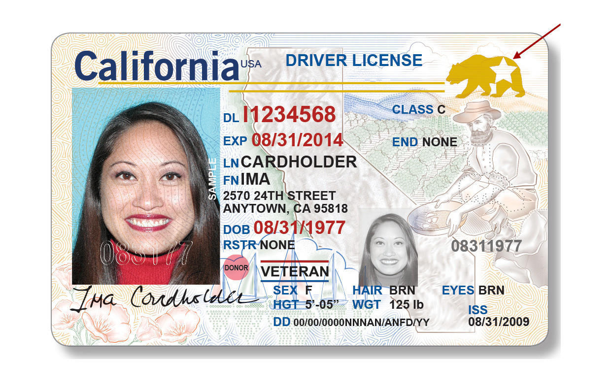 Image result for california real id