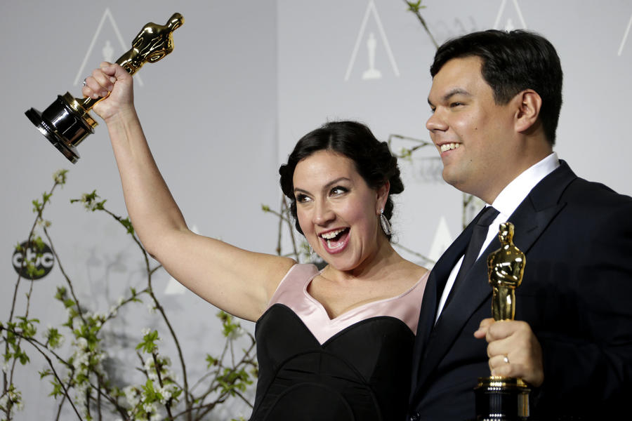 "Oscar winners Kristen Anderson-Lopez and Robert Lopez, shown in 2014, are nominated this year for ""Remember Me"" from ""Coco."" (Los Angeles Times)"