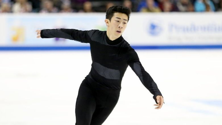Nathan Chen performs his program during the men's free skate event at the 2018 U.S. Figure Skating Championships. (Matthew Stockman / Getty Images)