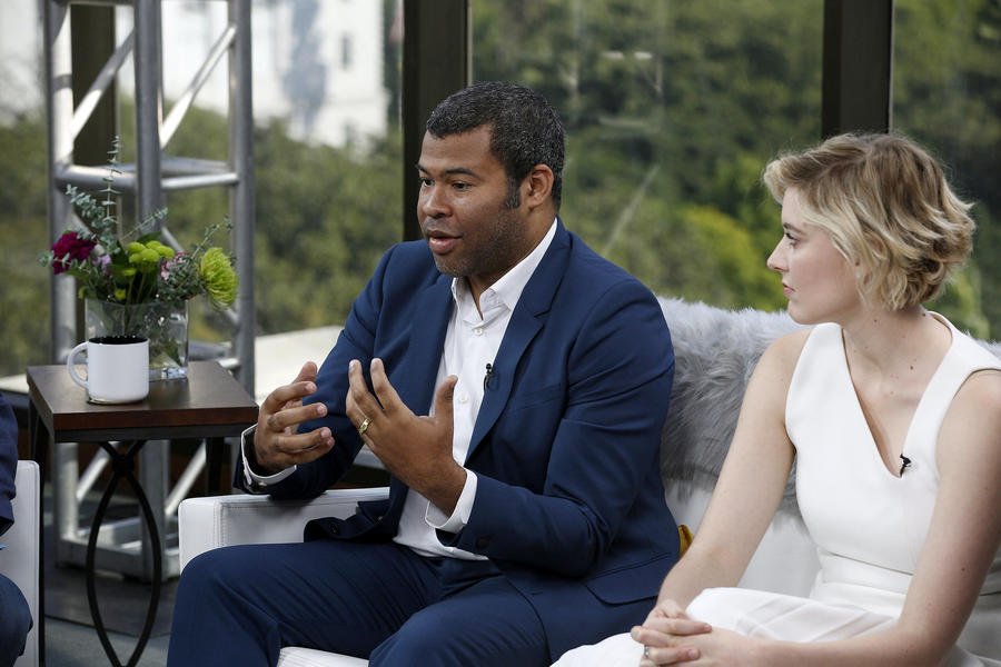 "First-time directors and Oscar nominees  Jordan Peele (""Get Out"") and Greta Gerwig (""Lady Bird""). (Kirk McKoy / Los Angeles Times)"