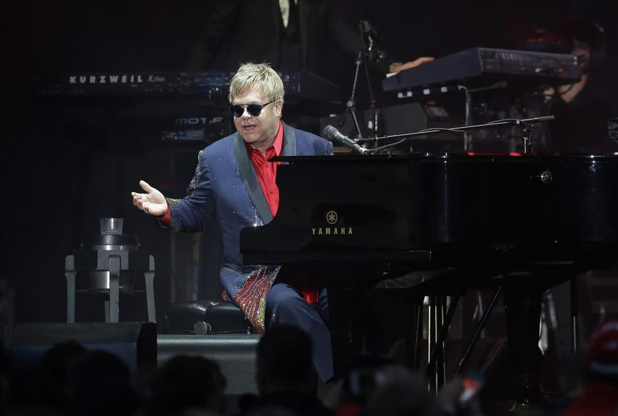 Elton John is calling it a career, at least on the road. (Eric Gay / Associated Press)