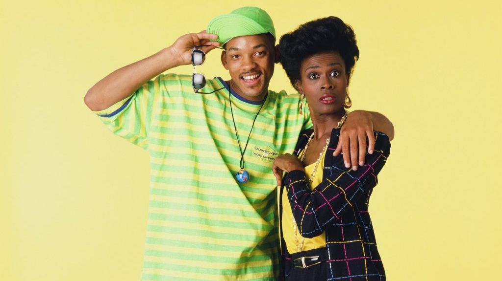 "Will Smith and Janet Hubert in ""The Fresh Prince of Bel-Air."""