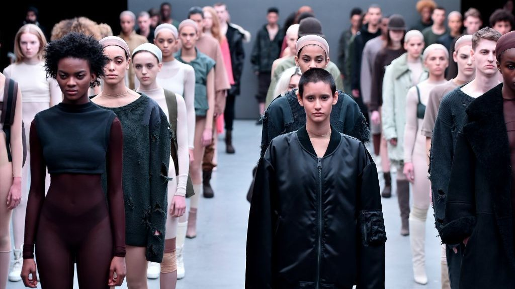 Adidas Originals x Kanye West Yeezy Season 1 fashion show.