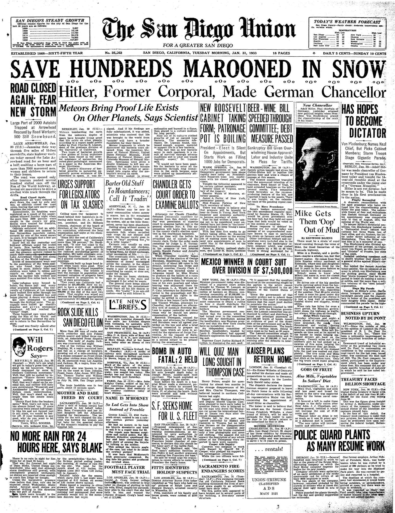 January 31, 1933